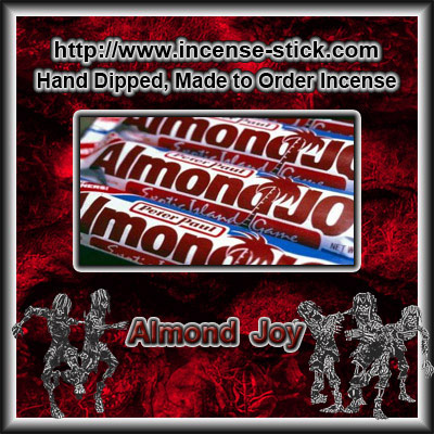 Almond Joy - 8 Inch Charcoal Incense Sticks - 20 Count Package