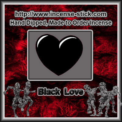 Black Love - 8 Inch Charcoal Incense Sticks - 20 Count Packages