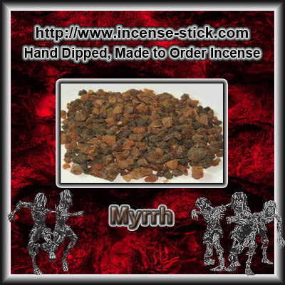 Myrrh - Black Incense Sticks - 20 Count Package