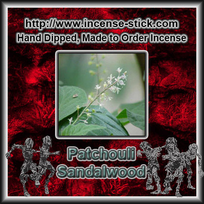 Patchouli Sandalwood - Charcoal Incense Sticks - 20 Count Pk