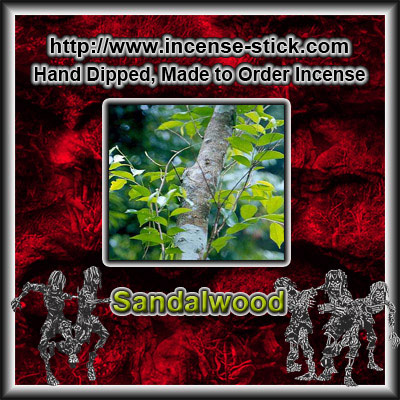 Sandalwood - Charcoal Incense Sticks - 20 Count Package
