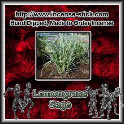 Lemongrass Sage - Charcoal Incense Sticks - 20 Count Package