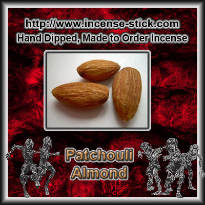 Patchouli Almond -Colored Incense Cones- 20 Count Package