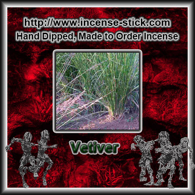 Vetiver - 8 Inch Charcoal Incense Sticks - 20 Count Package