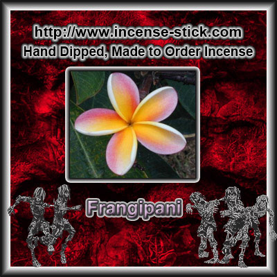 Frangipani - 6 Inch Incense Sticks - 25 Count Package