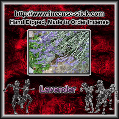 Lavender - Black Incense Sticks - 20 Count Package