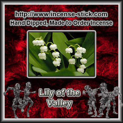 Lily of the Valley - 8 Inch Charcoal Incense Sticks - 20 Ct Pack