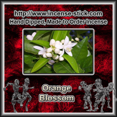 Orange Blossom - 8 Inch Charcoal Incense Sticks - 20 Ct Packages
