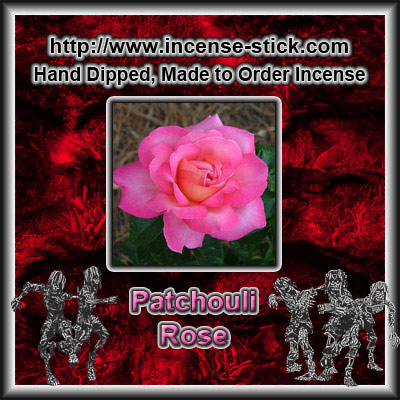 Patchouli Rose - 6 Inch Incense Sticks - 20 Count Package