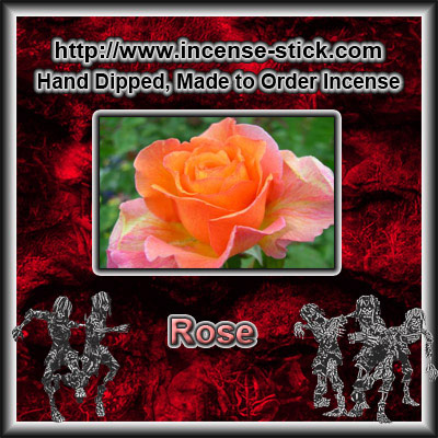 Rose - 8 Inch Charcoal Incense Sticks - 20 Count Package