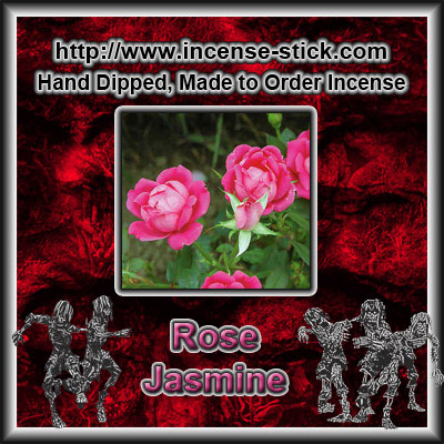 Rose Jasmine - 8 Inch Charcoal Incense Sticks - 20 Count Package