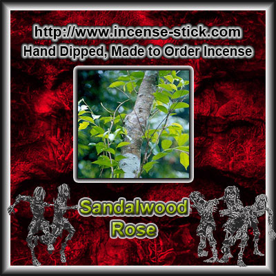 Sandalwood Rose - 8 Inch Charcoal Sticks - 20 Count Package