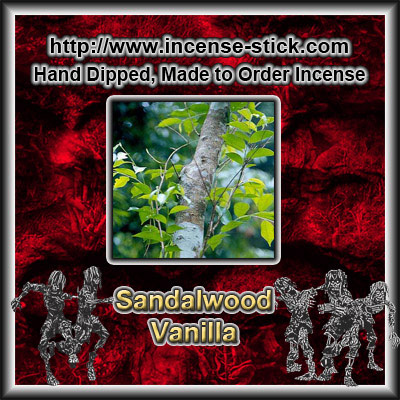 Sandalwood Vanilla - Black Incense Sticks - 20 Count Package