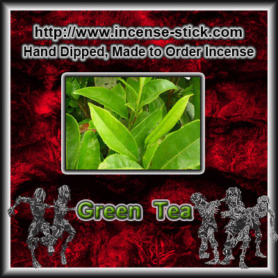 Green Tea - Colored Incense Cones - 20 Count Package