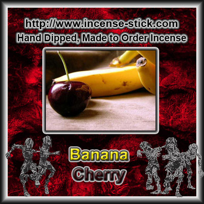 Banana Cherry - 6 Inch Incense Sticks - 20 Count Package
