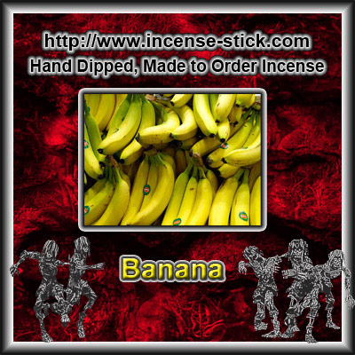 Banana - Charcoal Incense Sticks - 20 Count Package