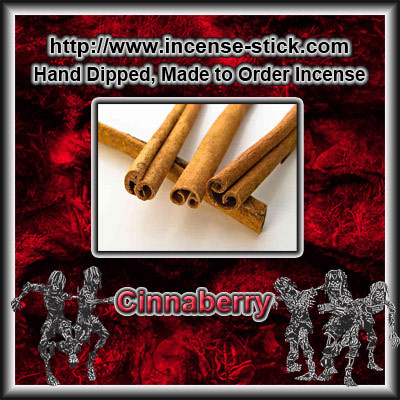 Cinnaberry - Charcoal Incense Sticks - 20 Count Package