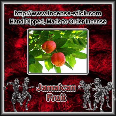 Jamaican Fruit - 8 Inch Charcoal Incense Sticks - 20 Ct Package