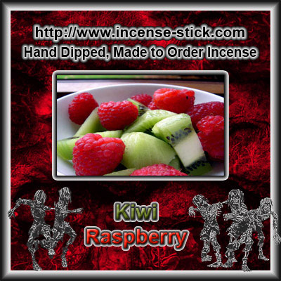 Kiwi Raspberry - Charcoal Incense Sticks - 20 Count Package