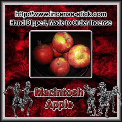 Macintosh Apple - Black Incense Sticks - 20 Count Package