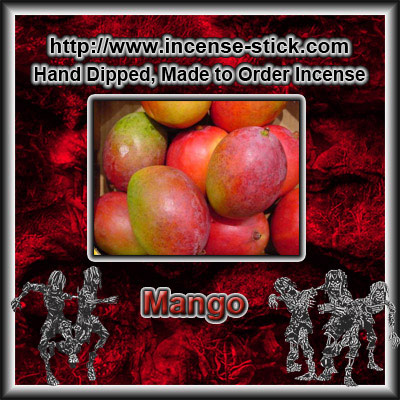 Mango - Black Incense Sticks - 20 Count Package