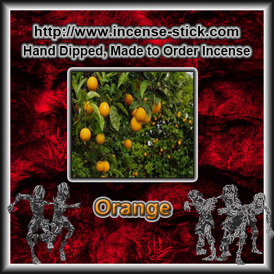 Orange - Charcoal Incense Sticks - 20 Count Package