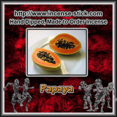 Papaya - Black Incense Sticks - 20 Count Package