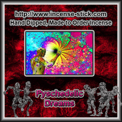 Psychedelic Dreams - Charcoal Incense Sticks - 20 Count Package