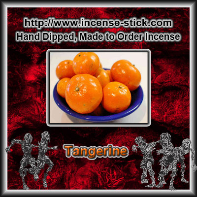 Tangerine - Charcoal Incense Cones - 20 Count Package