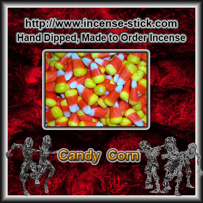 Candy Corn - 8 Inch Charcoal Incense Sticks - 20 Count Package