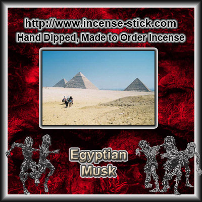Egyptian Musk - Charcoal Incense Cones - 20 Count Package