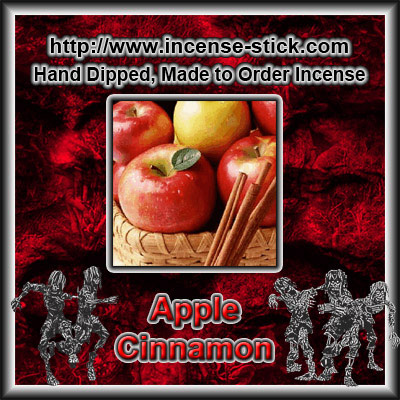 Apple Cinnamon - Colored Incense Sticks - 20 Count Package