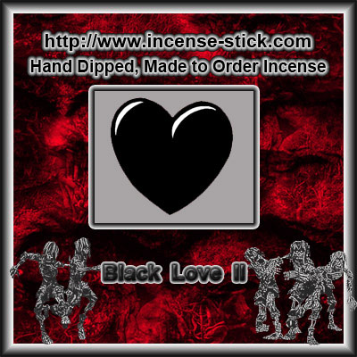 Black Love 2 - 8 Inch Charcoal Incense Sticks - 20 Count Package