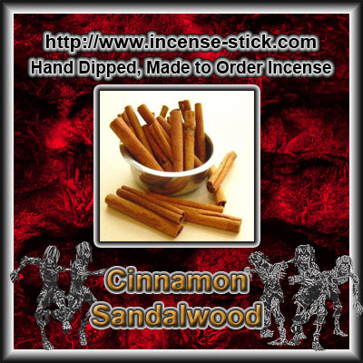 Cinnamon Sandalwood YC Type - Black Incense Sticks - 20 Ct Pk