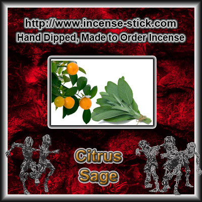 Citrus Sage YC [Type] - Colored Incense Cones - 20 Count Package