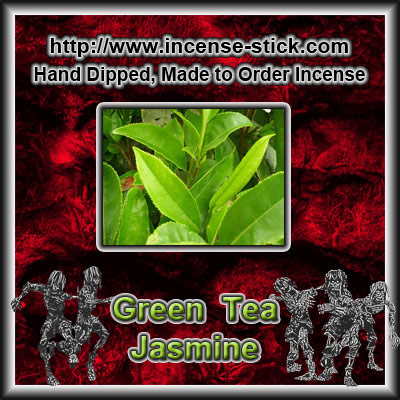 Green Tea N' Jasmine - Colored Incense Sticks - 20 Count Package