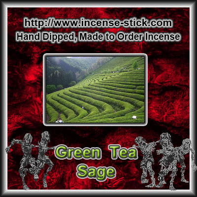 Green Tea N' Sage - 6 Inch Incense Sticks - 20 Count Package