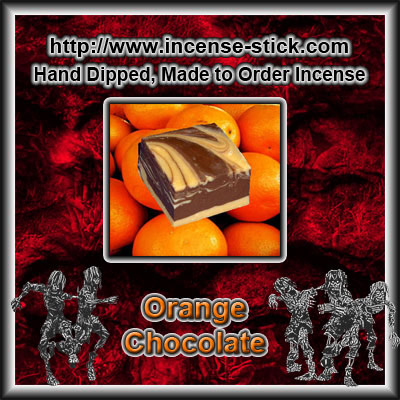 Orange Chocolate - Charcoal Incense Sticks - 20 Count Package