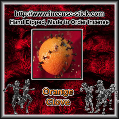 Orange Clove - 8 Inch Charcoal Incense Sticks - 20 Count Package