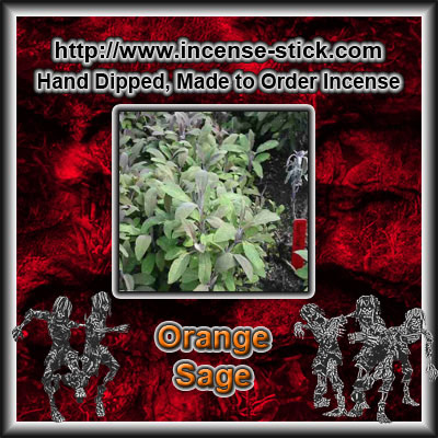 Orange Sage - 8 Inch Charcoal Incense Sticks - 20 Count Package